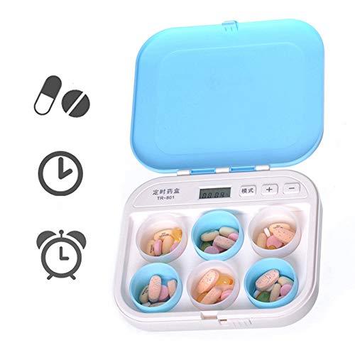 XZLBY Automatische Pille Dispenser Pro Tag Timer Alarm Feuchtigkeitsfest Wasserdicht Essen Medizin Rechtzeitig - Pille-dispenser-timer