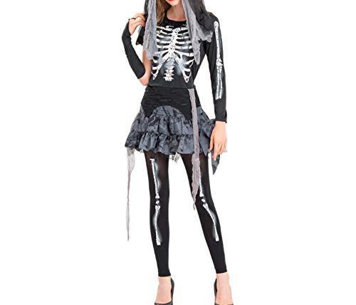 Mitef Damen Ghost Bride Cosplay Kostüm Night Show Zombie Bühne Kleid - - - Ghost Bride Kostüm