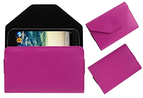 Acm Premium Pouch Case For Micromax Canvas 4 A210 Flip Flap Cover Holder Pink  available at amazon for Rs.179