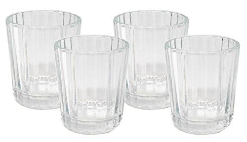 VASO veladora Mezcal Gläser Pack of 4 Klarglas