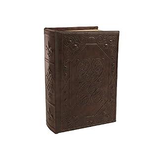 zeitzone Hohles Buch mit abschließbarer Metallbox Lilie Antik-Stil Buchversteck 24cm