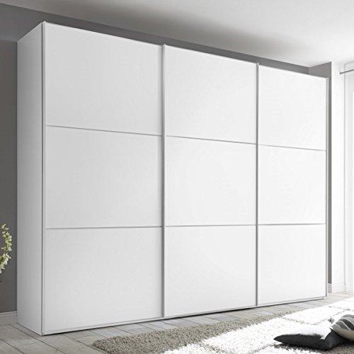 STAUD Includo 280er Breite Schwebetürenschrank Kleiderschrank 3-türig Dekor weiß