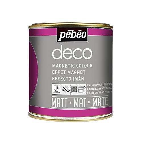 Pébéo - Deco Ardoise 500 ML Tableau Noir - Peinture Pébéo Ardoise - Peinture Acrylique Tableau Noir Ardoise Murale - Peinture Ardoise Craie Pour Tableau Noir Multisurface - 500 ml - Noir
