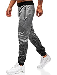 ALIKEEY Casuales Chino Joggers AlgodóN Fit Cargo Trouser Moda para Hombre  Al Aire Libre Packwork Graduado Negro Empalme Pantalones… aa64f736f901c