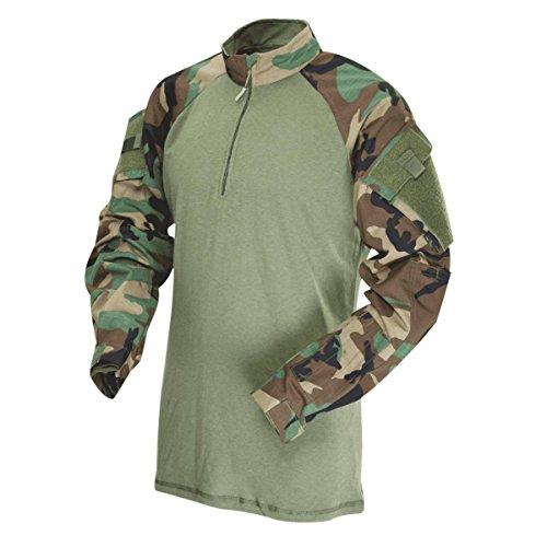 Tru-Spec–Comba Tshirt 1/4Zip Multicam Arid Woodland/Olive Drab