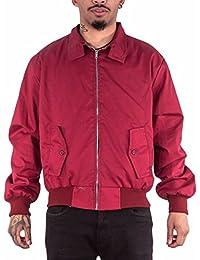 Harrington Jacket with Tartan Lining - Maroon - L