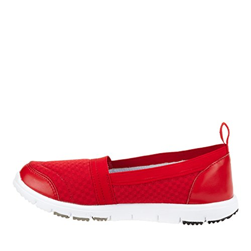 Propet Travel Walker Slip-On Elite Large Synthétique Mocassin red