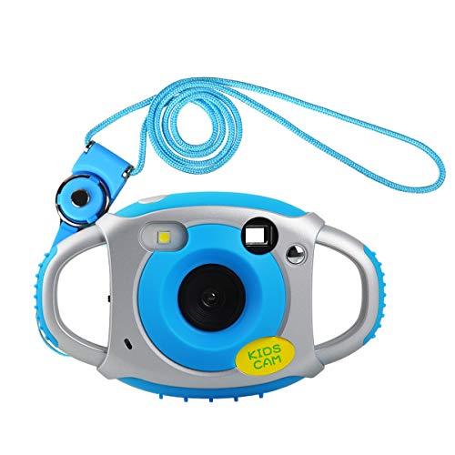 Funkprofi Kinder Kamera Kid Cam Mini Digital Camera Camcorder 5 Megapixel 1,77 Zoll Display Geschenk und Spielzeug für Kinder (Blau)