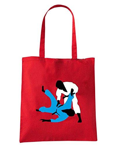 T-Shirtshock - Borsa Shopping TBOXE0107 judo a 3c Rosso