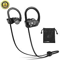 Auriculares Bluetooth 4.1 - LNMBBS In-ear Deportivos Auriculares, tecnología APTX y de micrófono para iPhone, iPad, LG, Samsung y Otros Teléfonos Móviles Android Verde