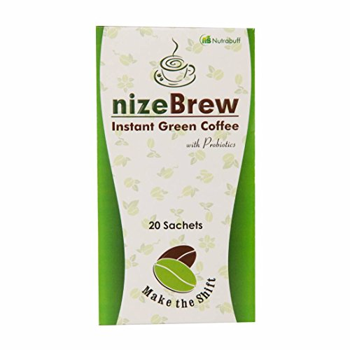 Nutrabuff Nizebrew Instant Green Coffee 20 Sachets ( Each 2 Grams)