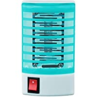 Internet LED Socket électrique Moustique Mouche Insectes Insecte Piège Tueur Zapper Lampe de Nuit (Bleu)