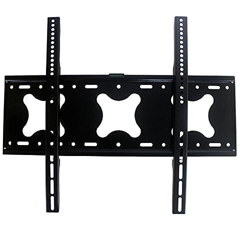 Support TV Mural Fixe Universel pour LCD LED écran Plat Plasma Moniteur 42 - 75 Pouce - Jusqu'à VESA 600mm×500mm et 85 kg
