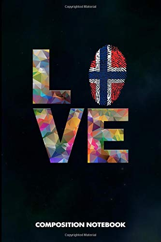 Composition Notebook: I love Norwegians, Birthday Journal for Norway, Oslo Lovers to write on por M. Shafiq