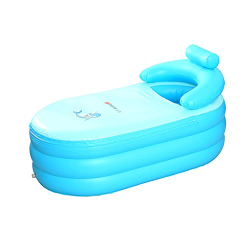 LYM & bañera Plegable Bañera Hinchable para niños Adultos bañera para el hogar Plegable Espesar...