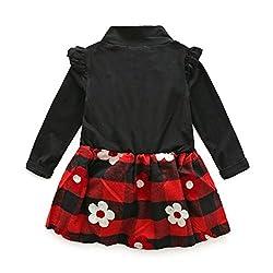 Baby Princess Dress, Transer® Babies Lattice Tutu Dress Puff Plaid Dresses Kids Christmas Clothes for Girls Jumpsuits Toddlers A-Line Infants Playsuits