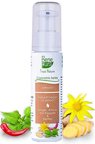 BenePura ArthroHit Extraits d'herbes naturelles 40 ml - Gingembre, Arnica, Piments &...