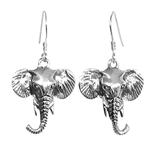 Sterling Silber Elefant (Rüssel hoch) Ohrringe-Gorgeous
