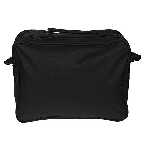 Herrentasche 949 Umhängetasche Allzwecktasche, Handyfach, extra RV-Rückfach in 3 Farben ca.37,0 x 28,0 x20,0 cm Black