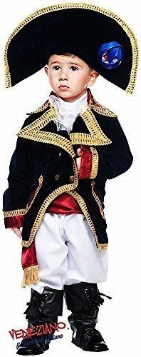 Fancy me italiana fatto deluxe bambino bambini napoleone pirata libro giorno settimana costume vestito 0-3 anni - bianco, 5 years