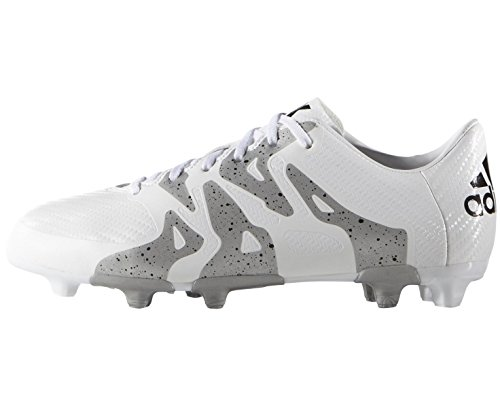 adidas Performance  X15.3 FG/AG, Chaussures de Football garçon Blanc - ftwr white/core black/silver met.