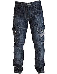 Homme hachuré style cargo Jeans