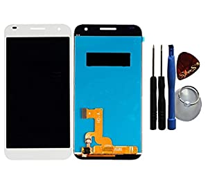 SPES® Reparatur-Set : Huawei Ascend G7 Displaymodul Display LCD Glas Scheibe Touchscreen in weiß + Werkzeug (Opening Tool)