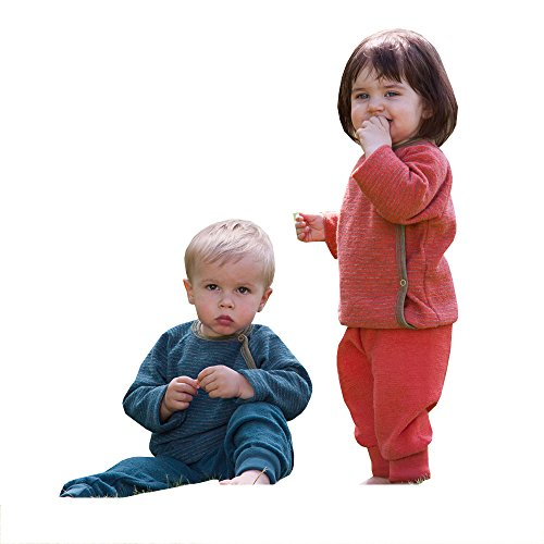 Engel Baby Wickelpulli,Größe 50/56, Farbe Hibiscus / Sand melange aus 100% kbT Schurwolle (100% Pullover Seide)