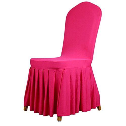 Spandex Esszimmerstuhl, Stretch Bankett Hochzeit Party Klappstuhl abdeckt, Schonbezug für Hotel Jahrestag Home Dekoration rose