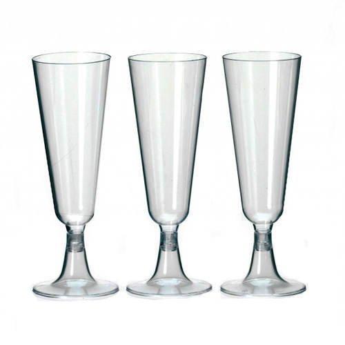 Preisvergleich Produktbild Champagner- - Sekt-Gläser transparent 0,1l, 50 Stk.