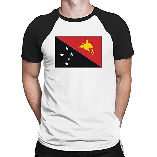 Teeburon Papua New Guinea Flag Raglan T-Shirt -