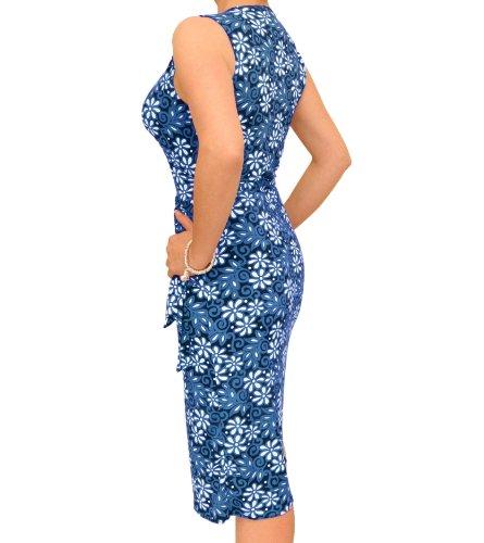 Blue Banana - Robe portefeuille sans manches - Imprimé Bleu