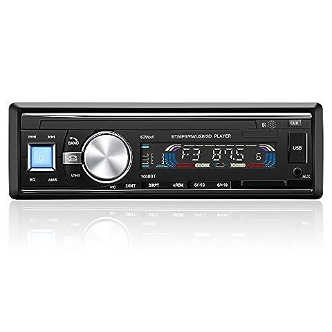 YOHOOLYO Autoradio Bluetooth Poste Radio Voiture Auto Radio Support USB