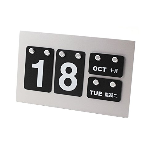2017 DIY Desk Calendar - Hanging Film Calendar, Creative Fashion DIY Decoration Calendar, Black,9.49 1.69 5.9 IN