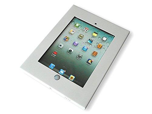 Tablet Halterung aus Metall passend für iPad 2., 3. 4te Generation Wandhalterung VESA 100 weiß Modell: IS2W (Wand-tablet-halter)