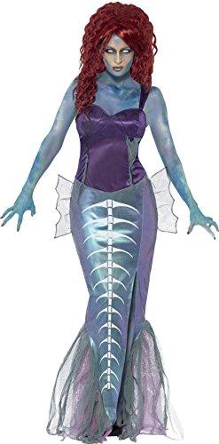 Smiffy's 44359L - Traje Zombi Sirena, Color púrpura, L