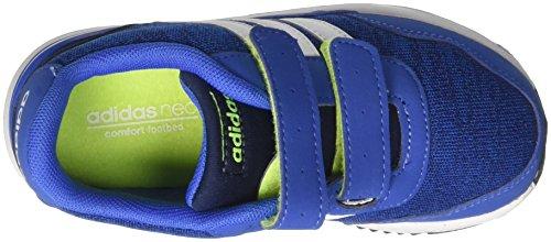 adidas  V Jog Cmf Inf, chaussure de sport Unisexe - enfant Bleu (Azul/ftwbla/maruni)