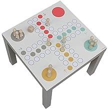 Möbelaufkleber XXL Würfelspiel passend für den IKEA LACK Beistelltisch - Möbel nicht inklusive