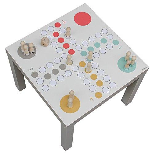 Limmaland Möbelaufkleber XXL Würfelspiel passend für den IKEA Lack Beistelltisch - Möbel Nicht inklusive