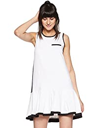 Just F by Jacqueline Fernandez Women's Pleated Mini Dress