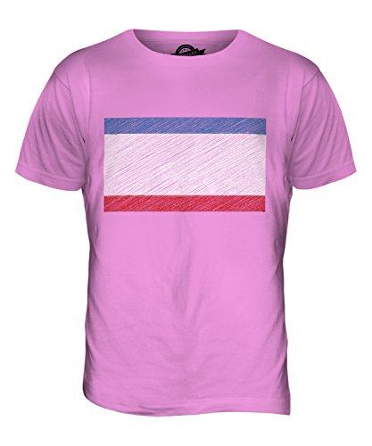 CandyMix Krim Kritzelte Flagge Herren T Shirt Rosa