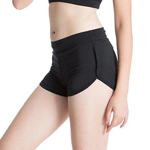 Femmes Shorts de Sports Fitness Casual Yoga pour Plage Courir Fitness Jogging Noir