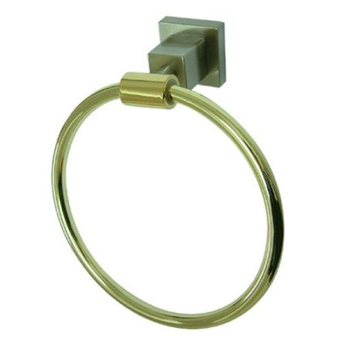Kingston Brass BAH8644 Claremont Handtuchring, 15,2 cm, Satin Nickel/Polished Brass, 6 inch - Kingston Handtuchring