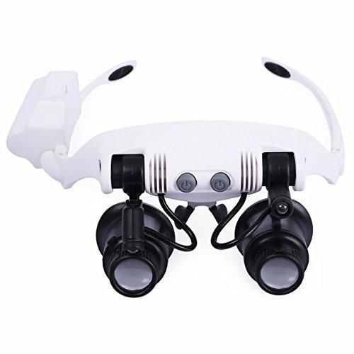Dushing Stirnband LED Lupe Scheinwerfer Mikroskop Schmuck Uhr Reparatur -