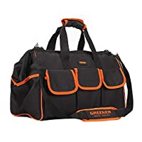 MultiWare Heavy Duty Tool Bag Strong Bag Storage Muti Purpose Black and orange 20-inch