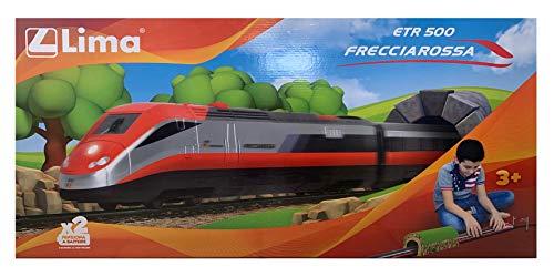 Lima set treno a batteria etr 500 frecciarossa completo di tunnel stazione e binari scala 1:87