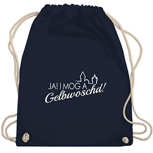 Städte - Ja! I mog a Gelbwoschd Franken Hommage - Unisize - Navy Blau - WM110 - Turnbeutel & Gym Bag -