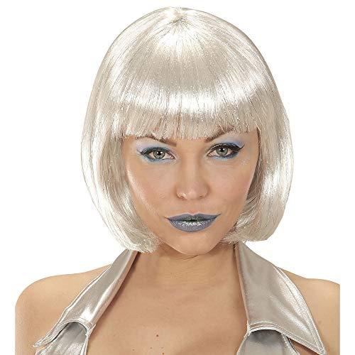 WIDMANN 06337 Perücke Space für Damen Weiß One Size (Party Galaxy Kostüm)