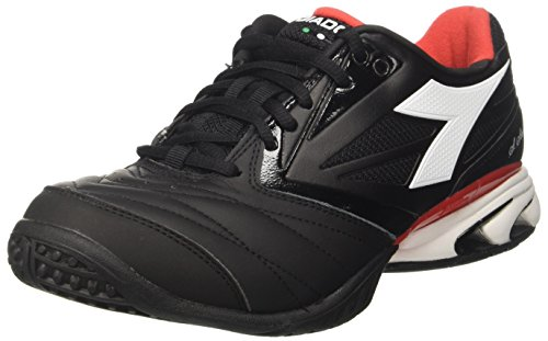 DIADORA Da uomo S. Star K VIII SG Scarpe da tennis Nero Jet Nero/Bianco 10 UK