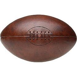 8 de Trèfle 34-1G-002R Ballon de rugby Vintage Marron Polyuréthane façon cuir D19 x H30 cm
